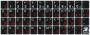 Наклейки на клавиатуру Русский/Латинский шрифт (черный фон)